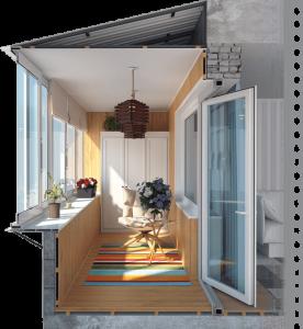 отделка и остекление балконов и лоджий под ключ