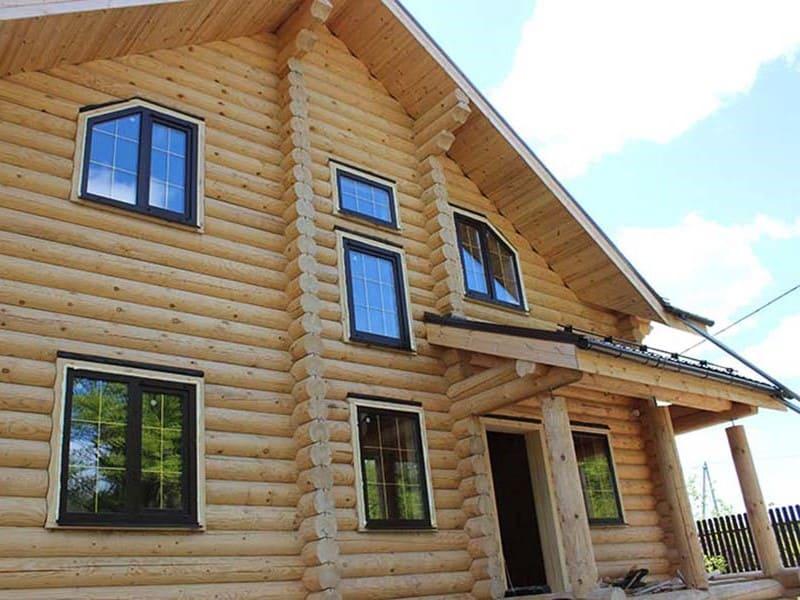 пластиковые окна в деревянном доме под ключ